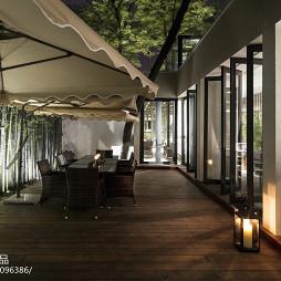 田园餐厅花园折叠门设计