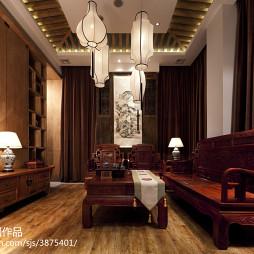 茶馆展示空间仿古沙发设计
