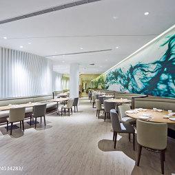 时尚高级餐厅背景墙装修设计
