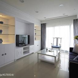 简约中式客厅电视柜装修设计