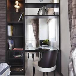 混搭风格别墅书房置物架设计