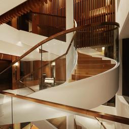 混搭风格别墅楼梯样板房图片欣赏