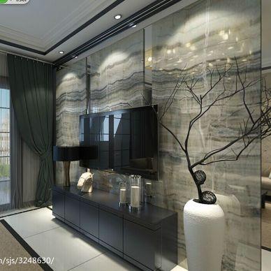 中式最新客厅影视墙