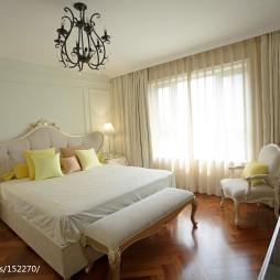 北欧风田园卧室窗帘装修效果图