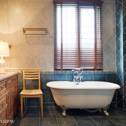 美式和中式混搭卫浴装修效果图