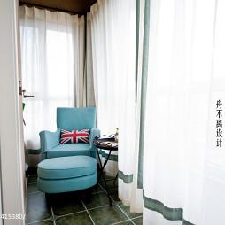 美式阳台窗帘设计