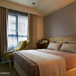 质感混搭风卧室窗帘设计