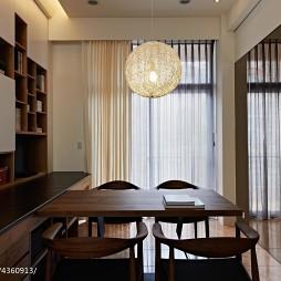 自然家居书房落地窗设计