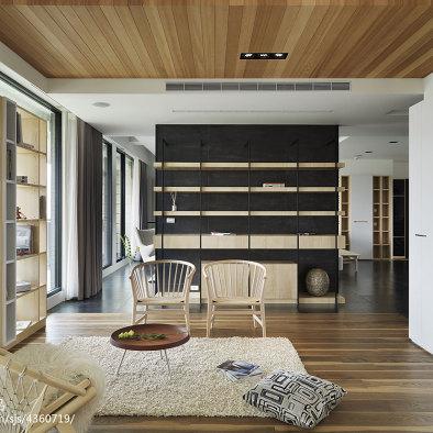 家装混搭风格休闲区吊顶设计