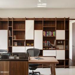 现代风格书房书柜效果图