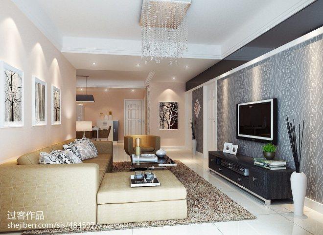 现代小客厅影视墙设计图片