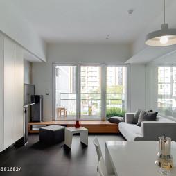 现代公寓客厅窗台效果图
