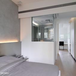 现代公寓卧室过道效果图