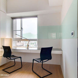 现代公寓书房窗台效果图