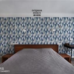 北欧现代卧室背景墙装修效果图