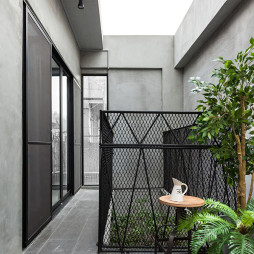 46坪混搭阳台装修设计