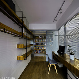 混搭风格豪宅书房隔断装修设计