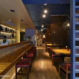 日式餐馆吧台设计