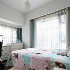 简约中式儿童房窗户样板房设计