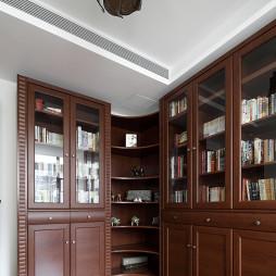 简约中式书房书柜样板房设计