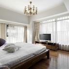 简约中式卧室窗户样板房图片