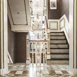 混搭风格别墅楼梯样板房设计图片