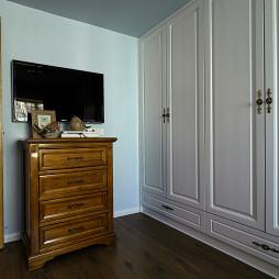 田园风格卧室家具样板房设计图片