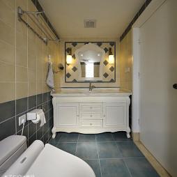 田園風格衛生間浴柜樣板房設計圖片