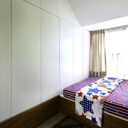 极简现代儿童房衣柜样板房设计