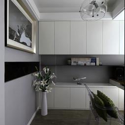 极简现代书房书柜样板房设计