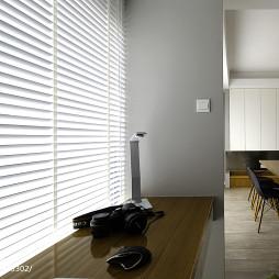 极简现代书房窗台样板房设计0