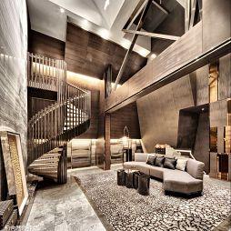 复式楼混搭风格客厅设计