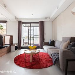 二居室混搭风格客厅电视墙效果图