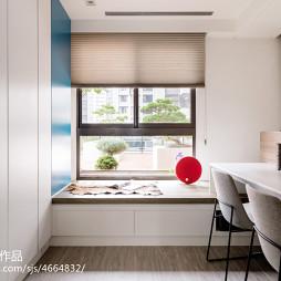 二居室混搭风格书房窗台效果图