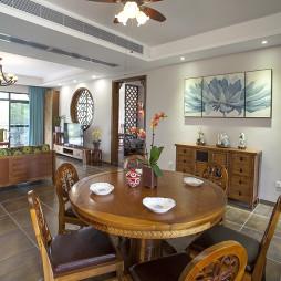 东南亚风格餐厅餐桌椅装修设计
