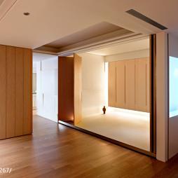 简约混搭风格客厅折叠隐形门装修效果图