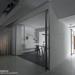现代创意办公室折叠门装修设计