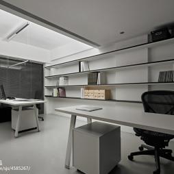 现代创意办公室置物架装修设计