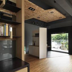 28坪住宅式办公室门厅隔断设计