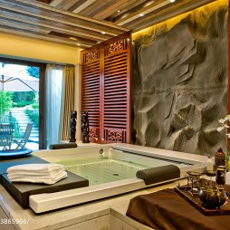混搭风格别墅浴室装修设计