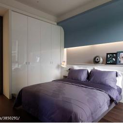 混搭风格卧室床头墙柜装修设计