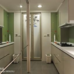 二居室混搭风格厨房玻璃装修效果图