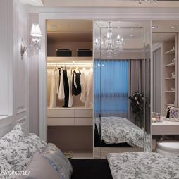 二居室新古典卧室衣帽间效果图