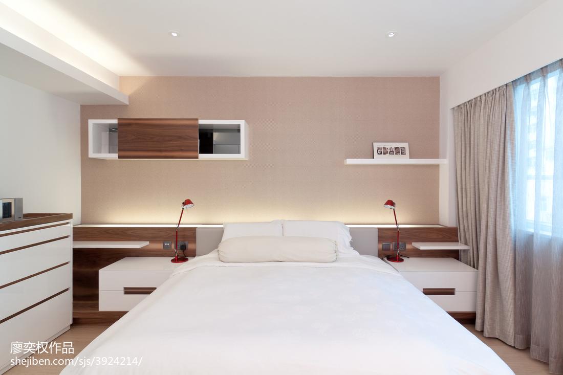 混搭风格卧室置物架设计