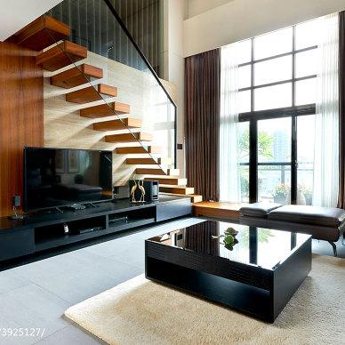 loft混搭客厅电视柜设计