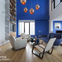 混搭顶层复式公寓客厅设计