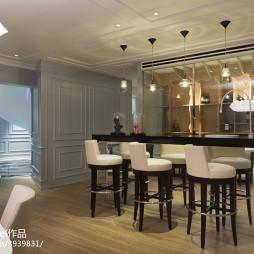混搭顶层复式公寓吧台设计