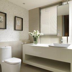 混搭风卫生间浴室柜装修效果图