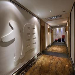 中餐厅走廊效果图