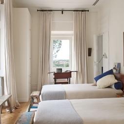 田园卧室窗帘装修效果图大全
